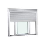 janela de pvc com persiana